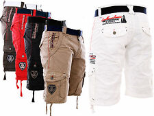 GEOGRAPHICAL NORWAY CARGO SHORTS PANTALON COURT HOMME BERMUDA Ceinture PADANG