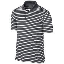 New Nike Golf Men's Icon Stripe polo neck tshirt/stripes/stay cool/relaxed fit