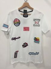 T-SHIRT PYREX UOMO DONNA BIANCA CON PATCH TOPPE APPLICATE  - PY33880