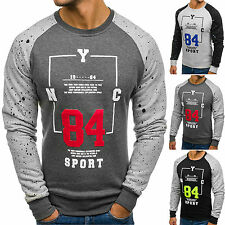 BOLF homme sweat pull col rond Maillot manches longues pull Classic 1 A 1 motif