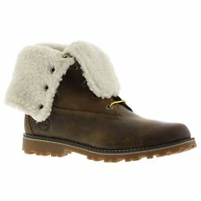 """Timberland Authentic 6 Waterproof Shearling Dark Brown Youth Leather Boots"""""""