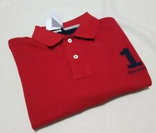 HACKETT LONDON DESIGNER MEN'S POLO SHIRT RED TAILORED FIT - M - RRP £75