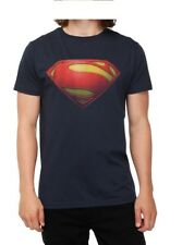 Superman Man of Steel Logo Licensed Movie DC Comics Navy Blue Mens T-shirt New