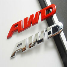 AWD Tailgate Chrome 100% Metal Emblem Sticker Badge 4 Wheel Drive SUV Off Road