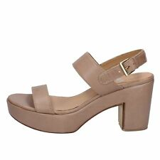 scarpe donna SHOCKS sandali beige pelle BY399