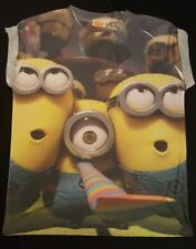 PRIMARK LADIES GIRLS THE PARTY MINIONS DESPICABLE ME T SHIRT TEE SHIRT TOP UK 12