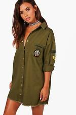Boohoo Petite Cara Military Shirt Dress para Mujer