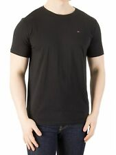 Tommy Jeans Hombre Camiseta Original Jersey, Negro