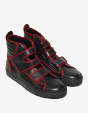 NEW RAF SIMONS Black High Top Trainers with Red Trim BNIB RRP £500