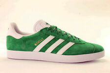 Original Mens Adidas Gazelle Green White Gold Trainers Shoes Sneakers BB5477