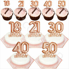 Pink & Rose Gold Happy Birthday Party Tableware Set Disposable Catering Supplies