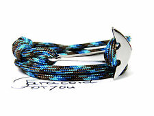 MARK ANCORA armband-surfer-edelstahl anker-unisex-paracord TIPO III