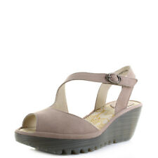 Womens Fly London Yamp Cloud Cupido Leather Wedge Heel Sandals Sz Size