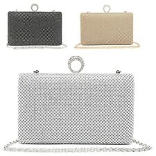 Ladies Diamante Ring Clutch Bag Cocktail Party Bag Handbag Bridal Purse ME68011