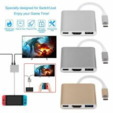 Type C to 4K HDMI USB3.0 Charging HUB Adapter Converter For Nintendo Switch NS