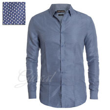 Camicia Uomo Fantasia Quadretti a Contrasto Colletto Bottoni Slim Fit GIOSAL