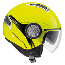 GIVI CASCO AIR JET 11.1 AMARILLO FLUO MOTO SCOOTER HELMET YELLOW DOBLE VISERA
