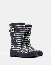 NEW! Joules Girls Printed Navy Star Welly / Wellies Sizes 11 - 3