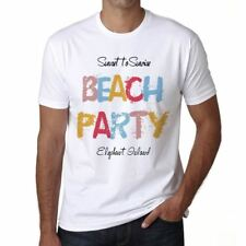 Elephant Island Beach Party Hombre Camiseta Blanco 00279