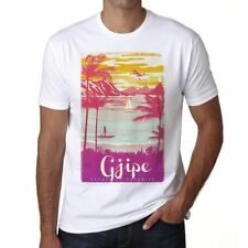 Gjipe Escape to paradise Hombre Camiseta Blanco Regalo 00281