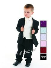 Boys Suits  5pc Cream Formal Suit Wedding Pageboy Christening (0-3mths-14yrs)