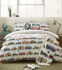 VW Classic Camper Van Volkswagen Duvet Quilt Cover Bedding Set or Accessories