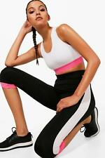 Boohoo Olivia Fit Contrast Panel Capri Running Legging per Donna