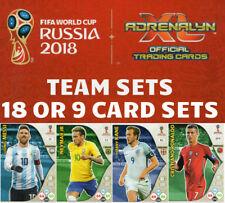 ADRENALYN XL FIFA WORLD CUP 2018 FULL TEAM SETS -  BUY 3 GET 1 FREE - BASE CARDS