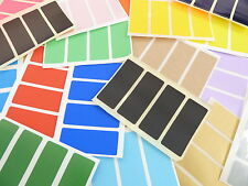 50x20mm Rectangulo Pegatinas De Color Rectangular Etiquetas Adhesivas 36 COLORES
