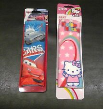 New Disney Cars-Hello Kitty Seat Belt Pads Pick Lightning Mcqueen Or Hello Kitty