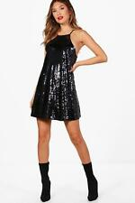 Boohoo Boutique Hollie Sequin Strappy Shift Dress para Mujer