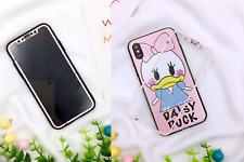 cute iphone x screen protector tempered glass back case disney cartoon 3d line