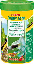 Sera Guppy Gran10g,100ml,250ml Slowly Sinking Veggie Granules Contains Spirulina