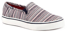Keds Double Decker Woven Stripe Womens Sneakers Shoes Canvas Slip On WF54663