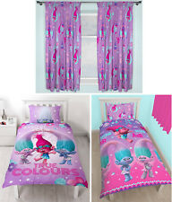 Trolls Glow Childrens Single Duvet Quilt Cover & Matching Curtains - 4 Options