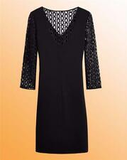 Ladies Little Black Dress Simply Be Lace Sleeve Shift Dress Size 12 UK Black