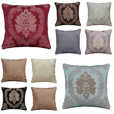 "New Cushion Cover Floral Jacquard Cushion Covers OR Filled 18"" x 18""  Home Decor"