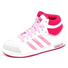 E1694 sneaker bimba ADIDAS TOP TEN scarpe bianco/fucsia basket shoe kid girl