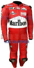 MARLBORO RED MOTORCYCLE RACING SUIT IN COWHIDE LEATHER WITH CE ARMOUR