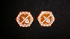 Acrylic Tokens. No Fire. Compatible with Star Wars X-Wing Miniatures Game