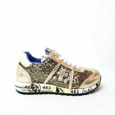 Premiata Lucy sneaker girl leather laminated cover and sequins gold (15PJ)