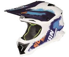 25% di sconto M NOLAN N53 LAZY BOY BLU/BIANCO OFF-ROAD CROSS MX Casco da moto