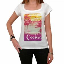 Cecina Escape to paradise Femme T-shirt Blanc  00280