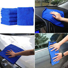 10Pcs Blue Soft Absorbent Wash Cloth Car Auto Care Microfiber Cleaning Towels