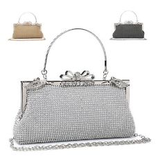 Ladies Diamante Clutch Bag Cocktail Bag Party Bag Handbag Purse ME68053