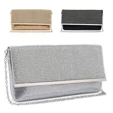 Ladies Diamante Envelope Clutch Bag Cocktail Bag Party Bag Handbag Purse ME68004