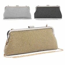 Ladies Diamante Clutch Bag Diamante Clasp Party Bag Handbag Purse ME68003