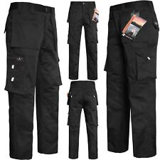 Mens Lightweight Combat Cargo Work Trousers With Knee Pad Pockets SIZE 30 -48