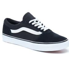 Vans Womens Maddie Suede/Canvas Sneakers Black White Trainers All sizes