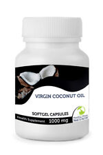 Virgen ACEITE DE COCO 1000mg VITAMINAS 30/60/90 /120/180/250 softgel cápsulas